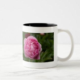 Pink Peony   Rosa Pfingstrose Two-Tone Coffee Mug