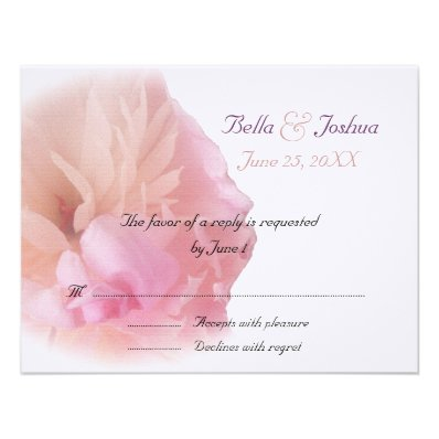 Pink Peony RSVP Announcement
