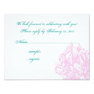 Pink Peony RSVP Card