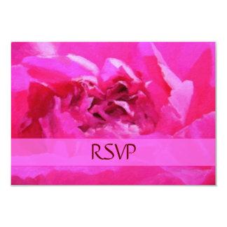 Pink Peony RSVP Cards