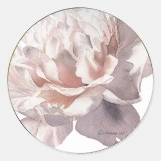 Pink Peony Stickers Wedding Personalized