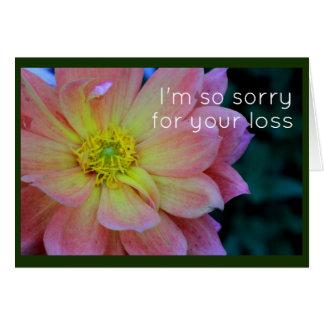 Pink Peony Sympathy Card