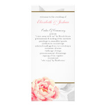 Pink Peony Tea length wedding programs