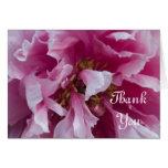 Pink Peony Wedding Bridesmaid Thank You Card