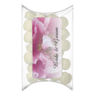 Pink Peony Wedding Chewing Gum Favors