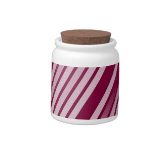 Pink Peppermint Stripes Candy Jars