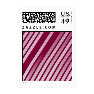 Pink Peppermint Stripes Postage Stamp