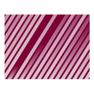 Pink Peppermint Stripes Postcard