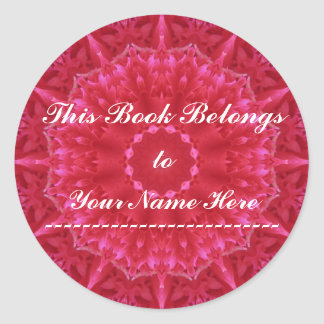 Pink Perfection Bookplate Sticker