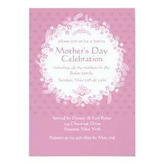 Pink Perfection Mother's Day Invitation