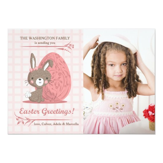 Pink Perfection Photo Easter Card