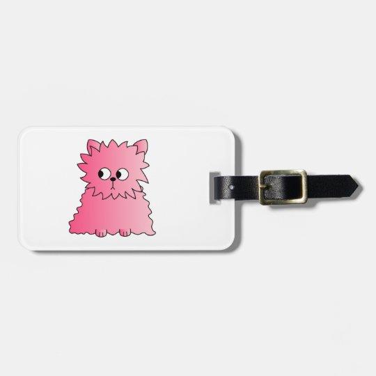 Pink Persian Cat. Bag Tag