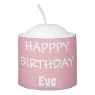 Pink Personalized Birthday Candle