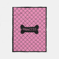 Pink Personalized Doggie Blanket