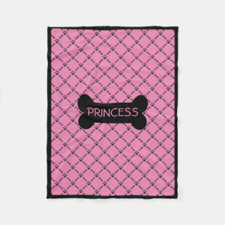 Pink Personalized Doggie Blanket Fleece Blanket