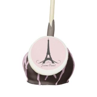 Pink Personalized Eiffel Tower J'aime Paris! Cake Pops