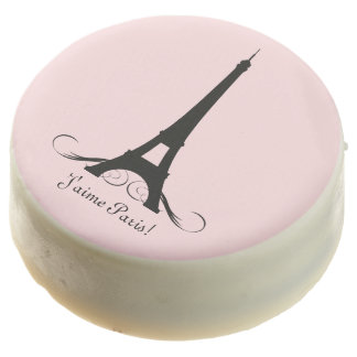 Pink Personalized Eiffel Tower J'aime Paris! Chocolate Covered Oreo