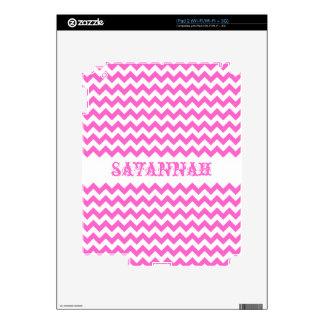 Pink Personalized iPad Skin