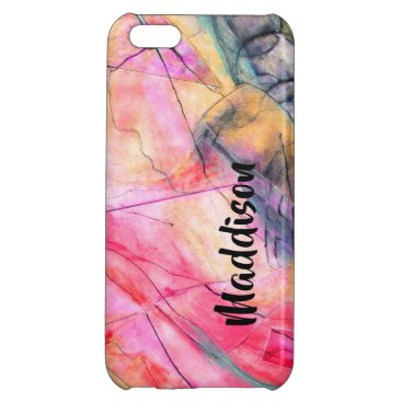 PINK PERSONALIZED iPhone 5C CASE GLOSSY FINISH