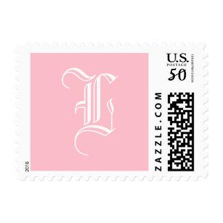 Pink Personalized Monogram Stationery Postage