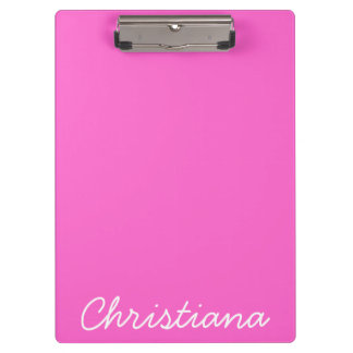 Pink Personalized Name Clipboard