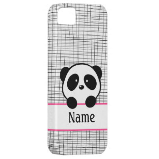 Pink Personalized Panda iPhone 5 Covers