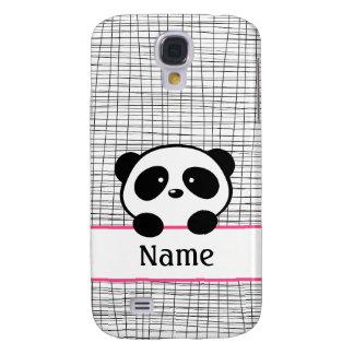 Pink Personalized Panda Galaxy S4 Case