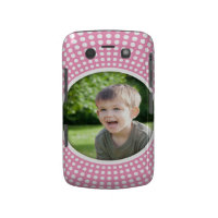 Pink personalized photo BlackBerry Bold case
