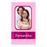 Pink personalized photo business card templates
