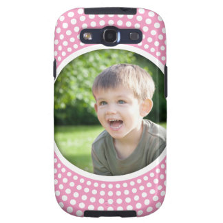 Pink personalized photo Samsung Galaxy case Galaxy SIII Cover