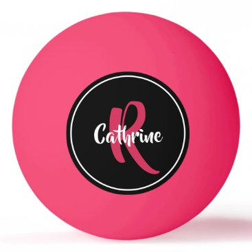 Pink Personalized Ping Pong Ball