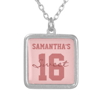 Pink Personalized Sweet Sixteen Pink Pendant