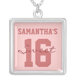 Pink Personalized Sweet Sixteen Pink Pendant