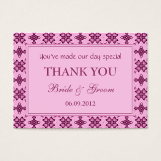 Pink Personalized Wedding Favor Gift Tags