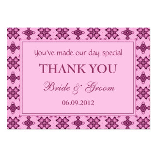 Pink Personalized Wedding Favor Gift Tags Business Card