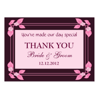 Pink Personalized Wedding Favor Gift Tags Business Cards