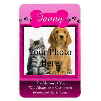 Pink Pet Memorial for Cats or Dogs Magnet
