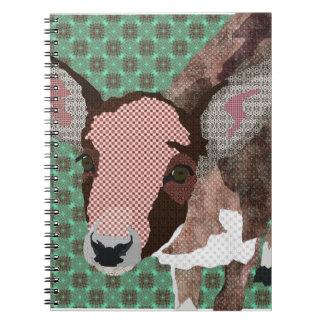 Pink Petal Fawn Green Notebook
