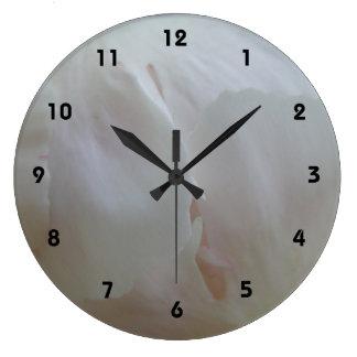Pink Petal Time Large Clock