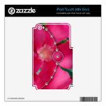 Pink Petals and Pearls iPod Touch 4G Decals