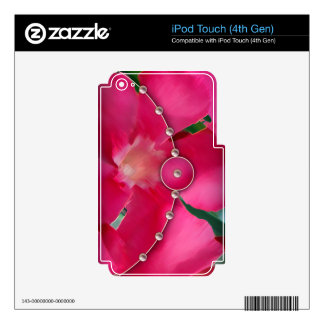 Pink Petals and Pearls iPod Touch 4G Skins
