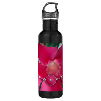 Pink Petals and Pearls Water Bottle