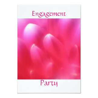 "Pink Petals Engagement Party Invitation 5"" X 7"" Invitation Card"