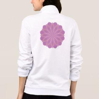 Pink Petals Kaleidoscope Mandala Printed Jacket