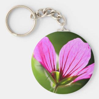 pink petals keychain