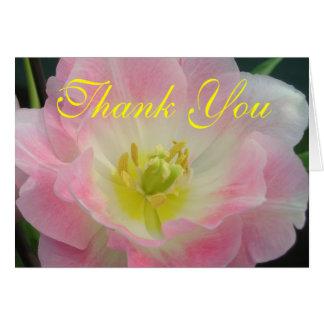 Pink Petals Thank You Card