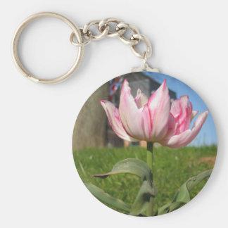 Pink Petals Tulip Key Chains