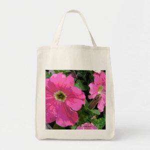 Pink Petunia Book Bag bag