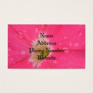 Pink Petunia Customize Business Cards - Set of 100