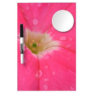 Pink Petunia Dry Erase Board With Mirror